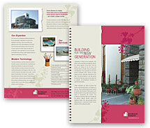 Brochure Templates building constructions