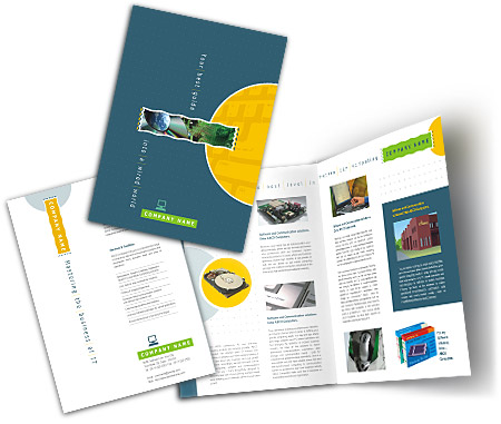 Complete Brochure  View with Layout For Computer Hardware Support
