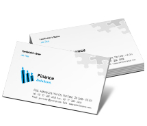Business Card Templates finance consulting
