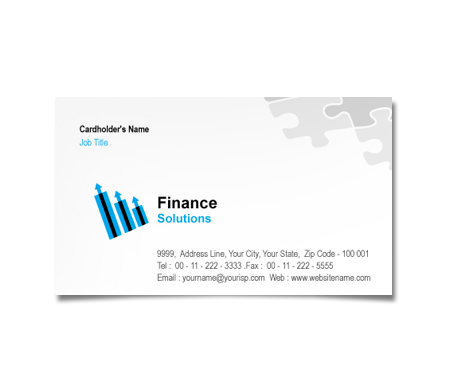Complete Business Card  View with Layout For Finance Consulting