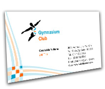 Business Card Templates Gymnasium Club