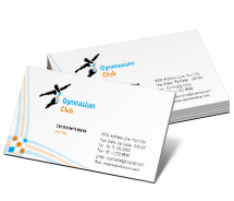 Sports Gymnasium Club business-card-templates