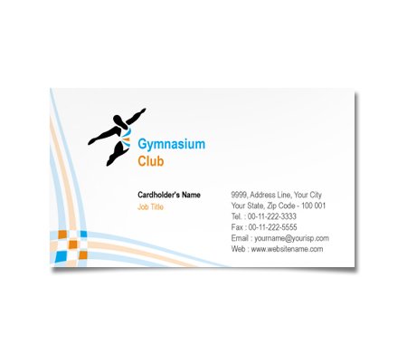 Complete Business Card  View with Layout For Gymnasium Club