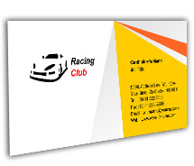 Business Card Templates Racing Club