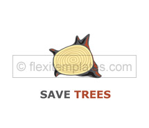 Logo Templates earth tree