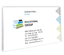 Business Card Templates Private Education