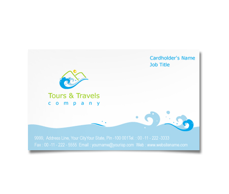 Complete Business Card  View with Layout For Adventure Tours