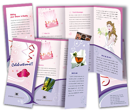 Complete Brochure  View with Layout For Event Management Services