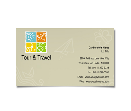 Complete Business Card  View with Layout For Tours Travel