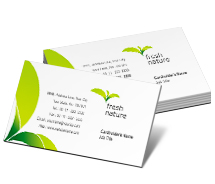 Business Card Templates nature products