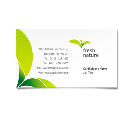 Complete Business Card  View with Layout For Nature Products