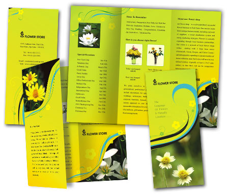 Complete Brochure  View with Layout For Florists